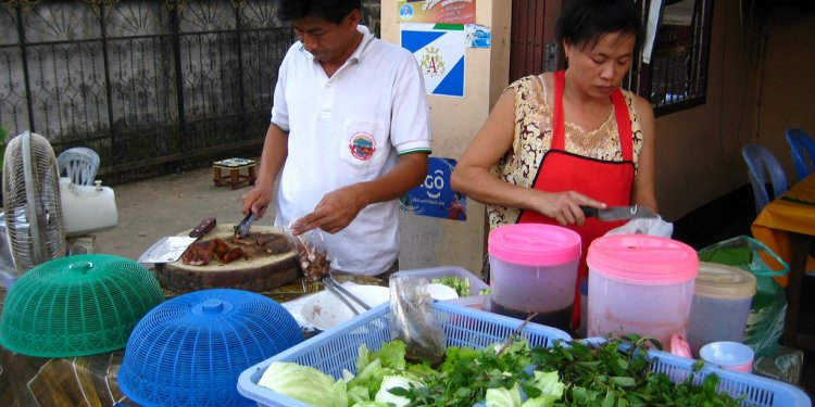 Barbecued food on the street