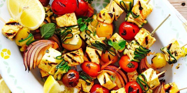 BBQ haloumi and vegetable