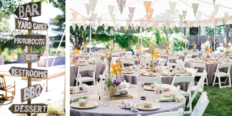 Backyard BBQ Wedding Reception