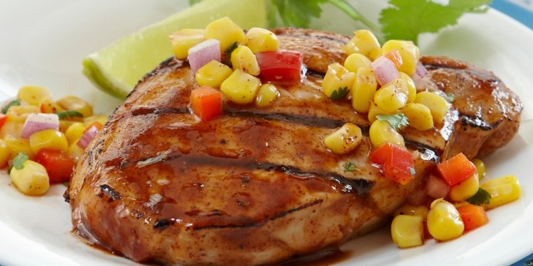 Grilled Pork Chops with Baja