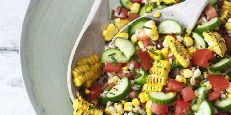 Tomato corn and barley salad