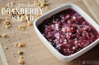 4 Ingredient Cranberry Salad