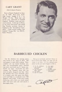 Cary Grant Oven-Barbecued Chicken Recipe