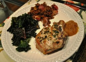 Grilled Pork Chops with Sage and Oregano