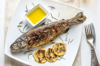 Grilled trout lemon rosemary