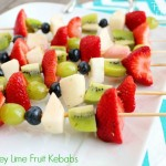 honey lime fruit kebabs yum