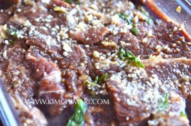 Korean Beef Ribs (Kalbi) marinated