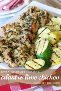 This super easy Cilantro Lime Chicken recipe is one of my real go-to favorites and one of the best summer grilling ideas I've found.