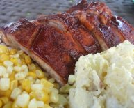BBQ ribs and side Dishes