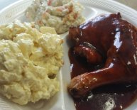 Sides with BBQ pork