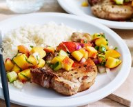 What to have with BBQ pork chops?